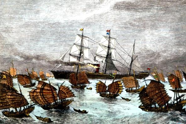 Navires de Thé en mer de Chine